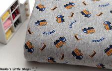 Calidad de algodón puro de enclavamiento Jersey tejido de punto (Cool trucks/cars) - 1/2 M