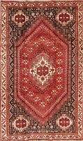 Nomad Tribal Vintage Red Geometric Persian Abadeh Oriental Handmade 5x9 Wool Rug