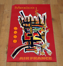 AIR FRANCE MEXICO poster manifesto affiche Mathieu Informalism Tourism Fly