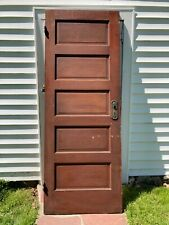 1915 Vintage Antique Wood 5 Panel Interior Door 30x80 - All Original Condition
