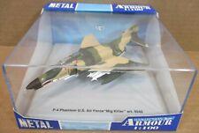 "Armour F-4 Phantom U.S. Air Force ""Mig Killer"" Aircraft Die-Cast 1:100 NEW (F1)"