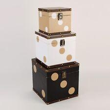 Monte Carlo Set of 3 Storage Boxes - Dice ~ Black Brown & White HM1314