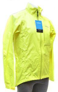 Shimano Explorer Rain Jacket Men MEDIUM Hi-Viz Yellow Cycling Road Bike Commute