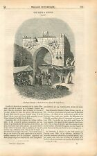 Porte de Konieh Konya Koniyeh Anatolie Turquie Charles Texier GRAVURE PRINT 1853