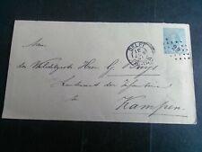 Nederland envelop Geuzendam 4 Delft - Kampen 1891 puntstempel 22