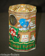 Vtg M&M's Street Players Advertising 2000 Metal Tin Can w Lid Storage Container