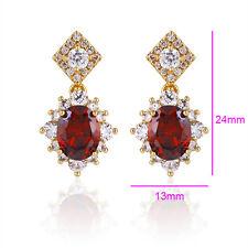18k Gold filled Luxury Earrings Purple CZ