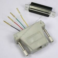 Lot10DB25pin Female~RJ11 4wire6P4C Jack Modular Adapter Aux/Data/Phone/Telephone