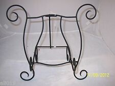"""Black Plate Rack or Bowl Stand Bard's 12.5""""  Metal   Stand  Folds Down"""
