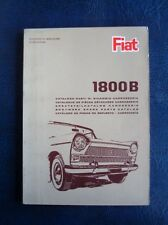 FIAT 1800B BODYWORK SPARE PARTS CATALOGUE MAY 1965 2nd EDITION ref: 603.10.061