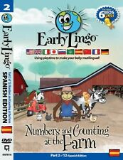 NEW Early Lingo Numbers and Counting at the Farm DVD (Part 2 Spanish)