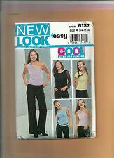 NEW LOOK 6137 Five tops + pants Six sizes 3 4 5 6  8 10 12 14 uncut factory fold