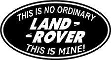 Fun Land Rover TD5 Defender 4x4 Off Road Badge Sticker