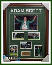 Adam Scott 2013 US Masters Champion Signed Photo Collage Framed Green Jacket