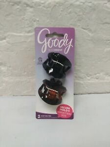 GOODY - Women's SlideProof Wingless Claw Hair Clip Small - 2 Count