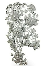 925 Sterling Silver Brooch Beautiful White Round Flower Bouquet DesignCz-Royale`