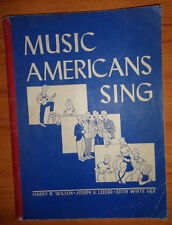 Music Americans Sing Harry Wilson 1948 Illustrated Sheet Music Lyrics Leeder Gee