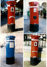 Post Box Photos - Portugal - Portuguese Pillar Boxes - Normal & Air Mail 1998
