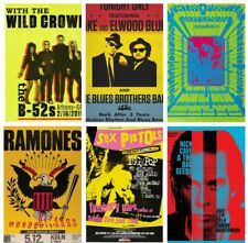 MUSIC & GIG POSTERS Vol 3 Rock Blues Alt Vintage Pub Bar Shop Cafe Club Decor