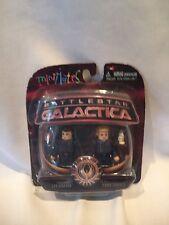 B14) Battlestar Galactica Series 3 Minimates Adama & Thrace New In Package