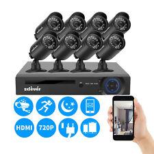 8CH 1080N CCTV HDMI DVR 1500TVL Outdoor 720P Security Camera System 8 Cameras
