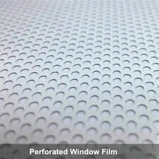 White Perforated Vinyl Home Car Windows Self-adhesive Vinyl Privacy Home Decor