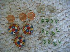 14 x Vintage Painted Glass & Plastic  Buttons
