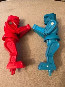 Rock Em Sock Em Robots 2 Replacement Robots Red  Rocker & Blue Bomber 2003