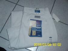 OLD NAVY PLAIN FRONT KHAKIS Men's Pants 34 X 30 Beige Cream 100% Cotton NWT