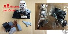 x6 Star Wars Desert Imperial Trooper Mini figure Block force awakens compat lego