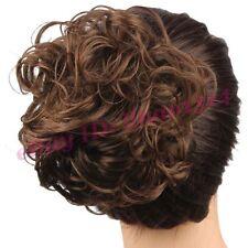 Women's Hair Bun Messy Curly Clip in Hair Extension Hairpiece Drawstring Chignon