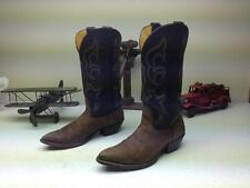 BROWN GRAY NOCONA ROCKABILLY COWBOY WESTERN DISTRESSED  MADE IN USA  BOOTS 7,5 M