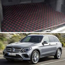 Premium Car Trunk Mat Leather Waterproof Fit for 2016-2017 Mercedes-Benz GLC