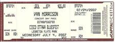 RARE / TICKET CONCERT - VAN MORRISON LIVE A OTTAWA ( CANADA ) - 4 JULY 2007