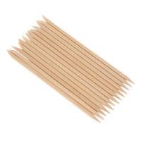 100PCS Nail Art Wood  Wooden Cuticle Remover Pusher Manicure Pedicure C5C1