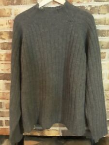 J Crew Men's XL Gray 100% Lambswool Crewneck? Pullover Sweater