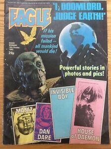Eagle 16/10/82 Dan Dare, Doomlord, Manix, House Of Daemon, IPC UK comic