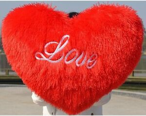 70cm Big Red Heart Creative Heart Shape Pillow Love Heart Cusion Doll Lover Gift