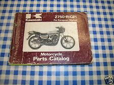 BB 99910- catalogo ricambi  KAWASAKI Z750-R GP    ediz. 1982
