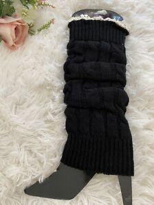 1 PAIR LEG WARMERS Knee High Pilates Yoga Dance Socks slouchy Knitted Boot Cuffs