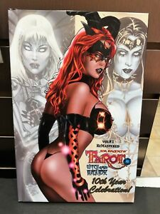 Tarot Witch Of The Black Rose Signed Numbered HC Jim Balent Catwoman Vampirella
