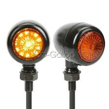 2x LED Black Amber Turn Signals Fit Honda Shadow Spirit VT750 VT1100 VTX 1300