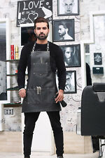 Professional Barber PU leather apron,barber Hair Cut cape,salon hair cut apron