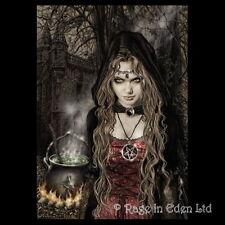 *CAULDRON* Goth Fantasy Witch Art 3D Print By Victoria Frances (39.5x29.5cm)