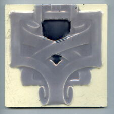 "Relief moulded 6""sq architectural tile by Minton, Hollins & Co, c1920"