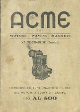 SPARE PARTS MANUAL MOTORE AGRICOLO ACME AL 800