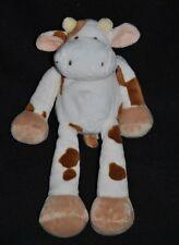 Peluche doudou girafe vache NICOTOY SIMBA beige blanc marron cornes 23 cm TTBE