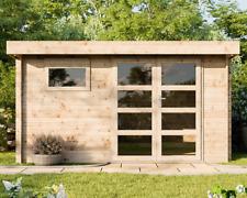 Gartenhaus 28mm 390x300 cm 3,9x3,0 m Gerätehaus Holzhaus Blockhaus