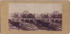 Paris panorama Photo Stereo Vintage albumine ca 1860