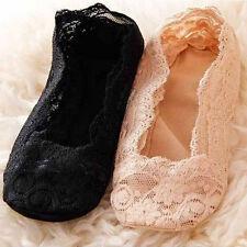 Women Cotton Lace Socks Antiskid Invisible Liner Socks Low Cut Socks Boat MW